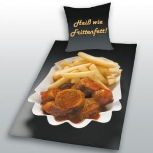 Bettwasche Im Imbissstyle Currywurst Pommes Geniale Geschenkideen