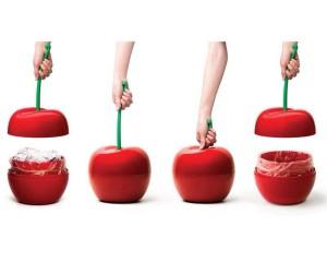 Abfalleimer-Aufbewahrungsdose-Kirsche-Cherry-rot